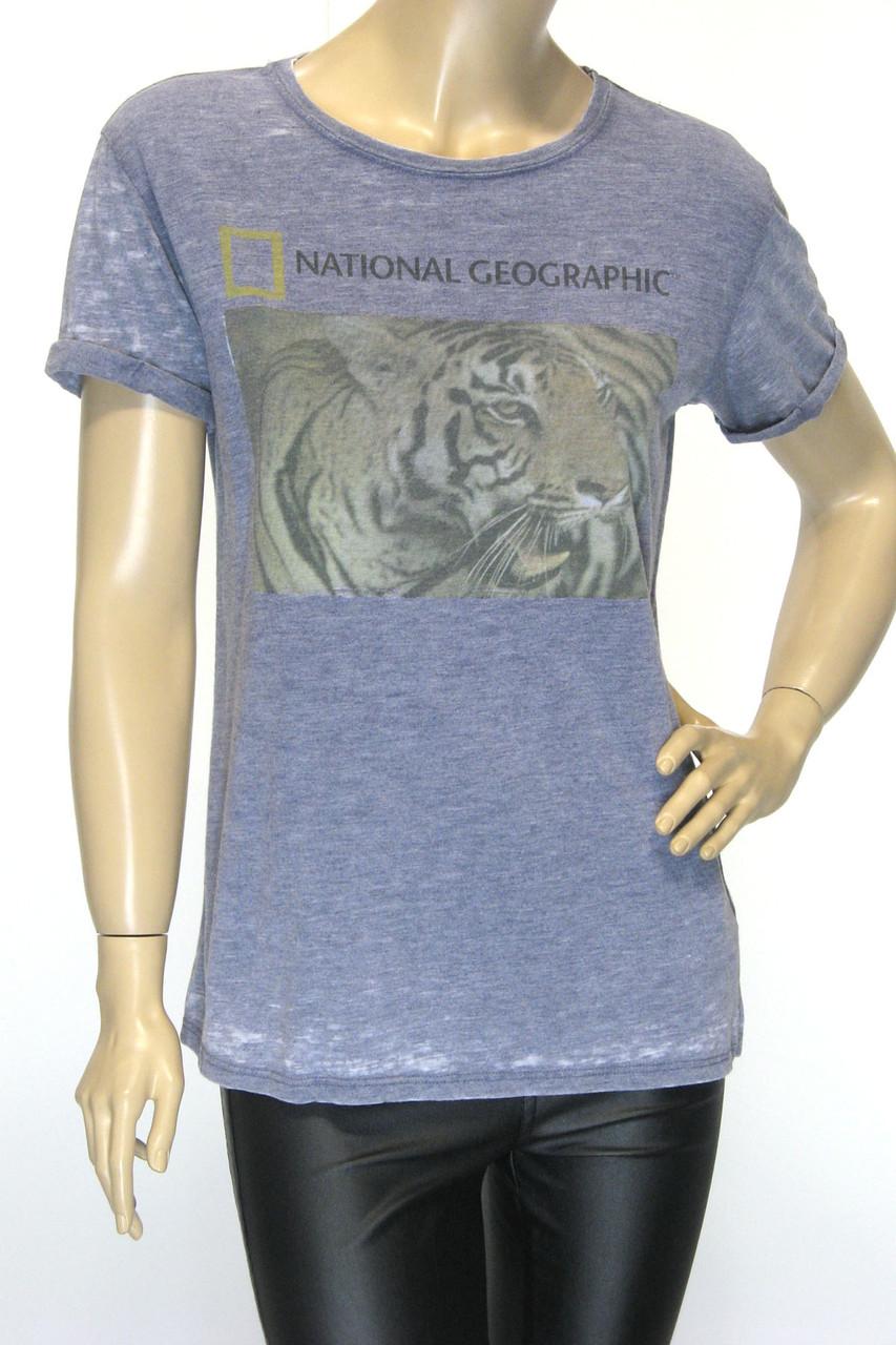 National Geographic логотип футболка женская