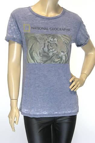 National Geographic логотип футболка женская, фото 2