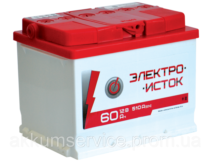 Аккумулятор автомобильный Электроисток 60AH R+ 510А