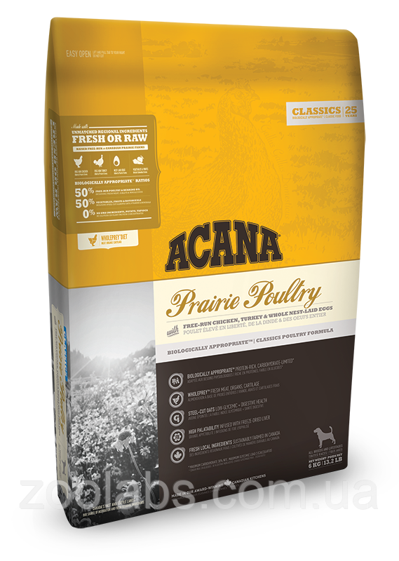 Корм Acana для собак и щенков | Acana Prairie Poultrry 11,4 кг