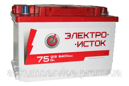Аккумулятор автомобильный Электроисток 75AH R+ 640А