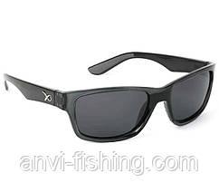 Поляризационные очки Matrix - черные солнцезащитные с серыми линзами (Casual Black)