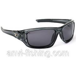 Поляризационные очки Matrix - черные солнцезащитные с серыми линзами (Wraps Black)