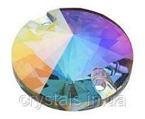 Пришивные риволи хрустальные Preciosa (Чехия) 12 мм Crystal AB 2-й сорт