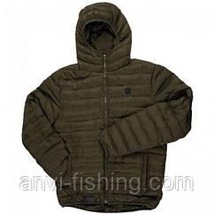 FOX оливковая стеганая куртка с капюшоном CHUNK