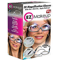 Очки для нанесения макияжа с подсветкой 3X Magnification makeup glasses