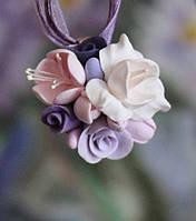 """Кулон с цветами """"Зефирный фиолет"""", фото 1"""