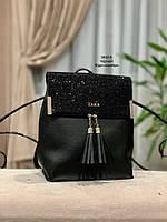 Стильный рюкзак Глиттер,кожзам, фото 2