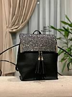 Стильный рюкзак Глиттер,кожзам, фото 4