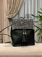 Стильный рюкзак Глиттер,кожзам, фото 7