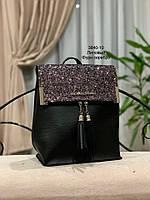Стильный рюкзак Глиттер,кожзам, фото 6