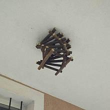 Потолочный светильник деревянный декоративный ручной работы