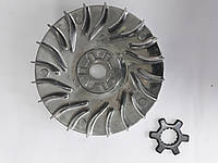 Тарелка/Щека вариатора неподвижная Yamaha JOG 90, BWS (алюминий, +ступица) DONGXIN