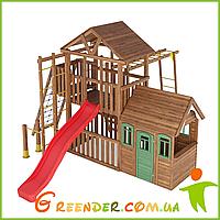 Деревянный спортивно-игровой детский комплекс Лидер 6