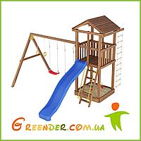 Деревянные детские игровые комплексы Лидер 7