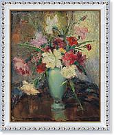 Репродукция  современной картины  «Пионы в салатовой вазе» 28 х 35 см