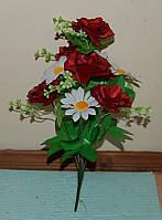 М-402 Троянда з ромашкою 12 голів 43х8 см, фото 1