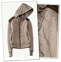 Куртка молодежная весенняя бежевого цвета