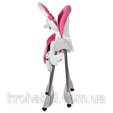 Стульчик для кормления Bambi M 3216-2-8 Pink (розовый), складной, регулируется спинка, фото 2