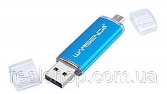 Флеш накопитель 8GB + microUSB OTG WANSENDA (blue)