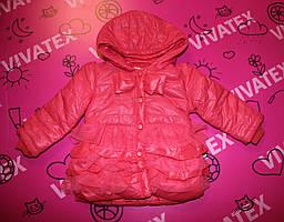 Куртка Весна-осень для девочки рюша-гепюр коралловая