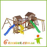 Деревянный детский спортивно-развлекательный комплекс Лидер 14
