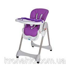 Стульчик для кормления Bambi M 3216-2-9 Purple (фиолетовый), складной, регулируется спинка, фото 2