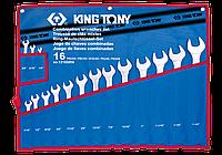 Набор комбинированных ключей 16 предметов дюйм King Tony 1216SR, фото 1