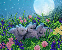 Схема для вышивки бисером Лунные кролики
