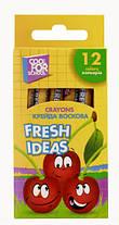 """Мел цветной восковой """"Fresh Ideas"""" 12 штук Cool for school"""