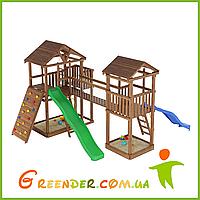 Деревянный детский спортивно-развлекательный комплекс Лидер 16