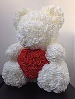 Мишка из 3D роз - 40см подарочный Медведь «Teddyr»  + Подарочная упаковка, фото 8