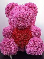Мишка из 3D роз - 40см подарочный Медведь «Teddyr»  + Подарочная упаковка, фото 7