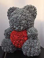 Мишка из 3D роз - 40см подарочный Медведь «Teddyr»  + Подарочная упаковка, фото 9