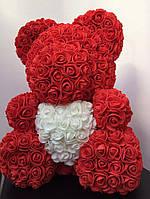 Мишка из 3D роз - 40см подарочный Медведь «Teddyr»  + Подарочная упаковка, фото 6