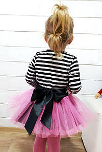 Детское платье сюбкой из фатина идекором. БЛ-15-0119