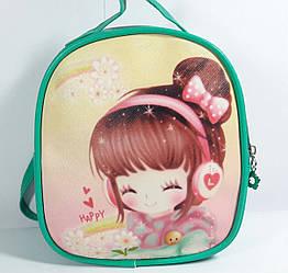 """Дитячий рюкзак - сумка """"Стильні дівчиська"""" колір м'ята"""