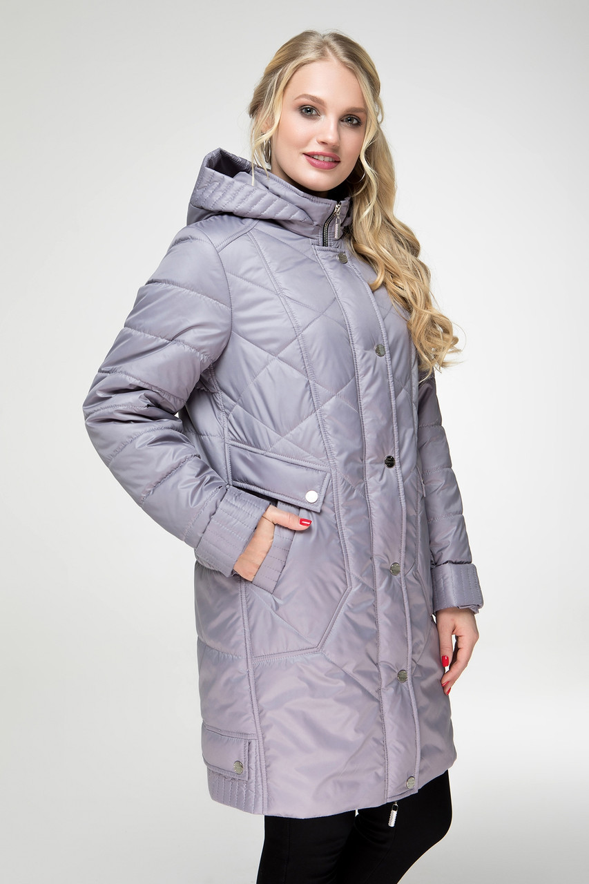 d1c883f85b6 Куртка женская удлиненная на весну с 50 по 60 размер 3 нежных цвета -  Интернет-