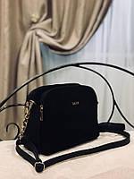 Сумки женские натуральная замша и кожзам,черная,серая, фото 2