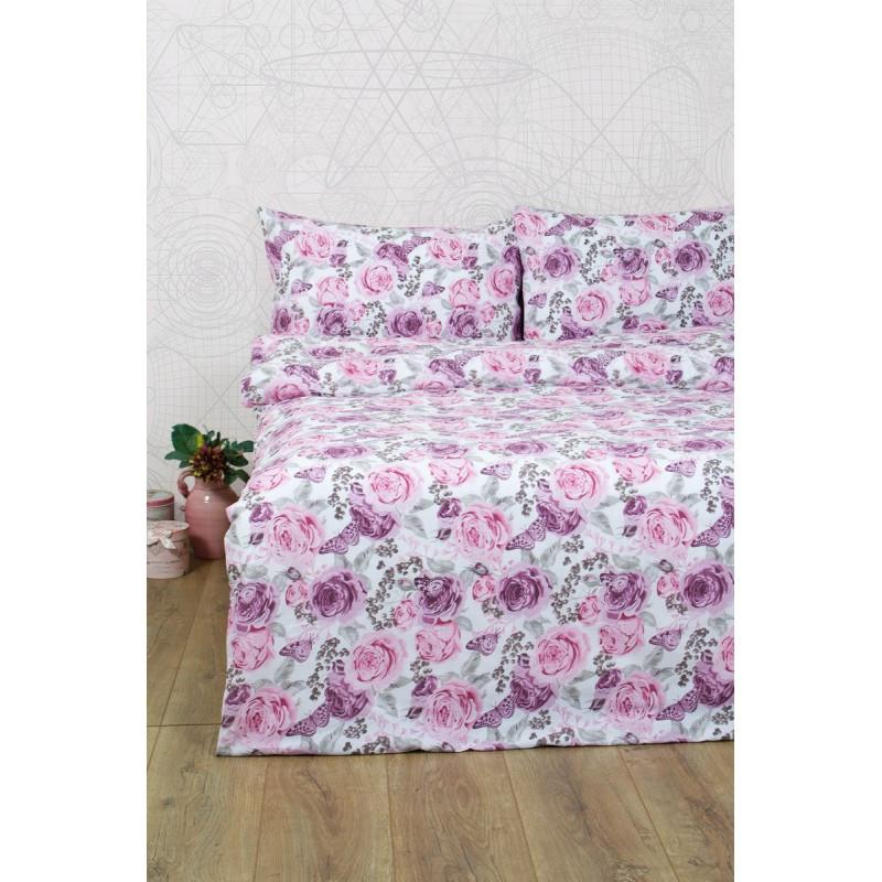 Постельное белье Lotus Ranforce - Dora розовый евро