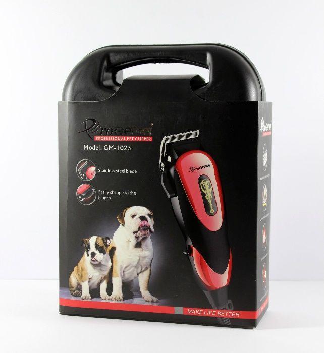 Профессиональная компактная машинка для стрижки кошек, собак Pro Gemei GM-1023