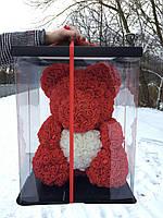 Мишка из 3D роз - 40см подарочный Медведь «Teddyr»  + Подарочная упаковка, фото 5