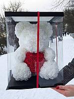 Мишка из 3D роз - 40см подарочный Медведь «Teddyr»  + Подарочная упаковка, фото 3