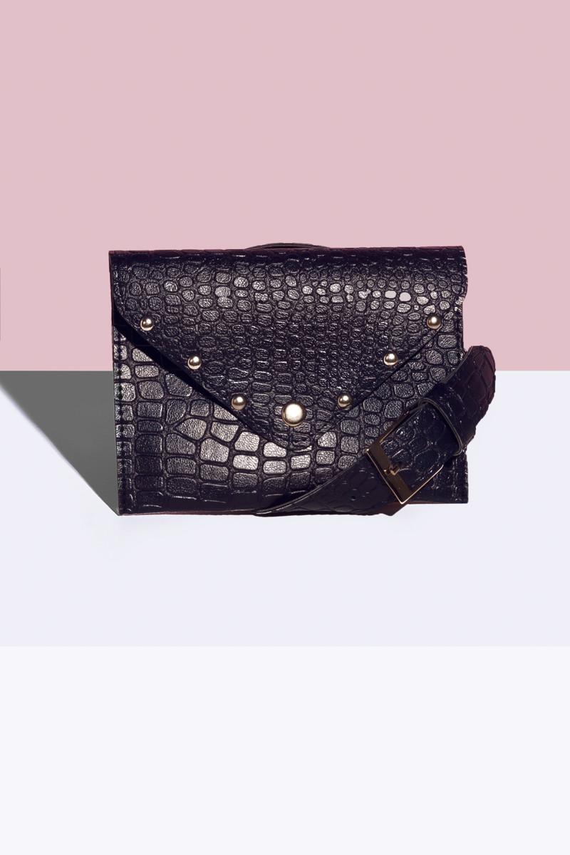 Женская сумка на пояс Синий