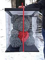 Мишка из 3D роз - 40см подарочный Медведь «Teddyr»  + Подарочная упаковка, фото 2