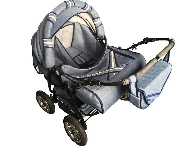 Универсальная коляска-трансформер для двойни Taurus Duo LEN, Джинс
