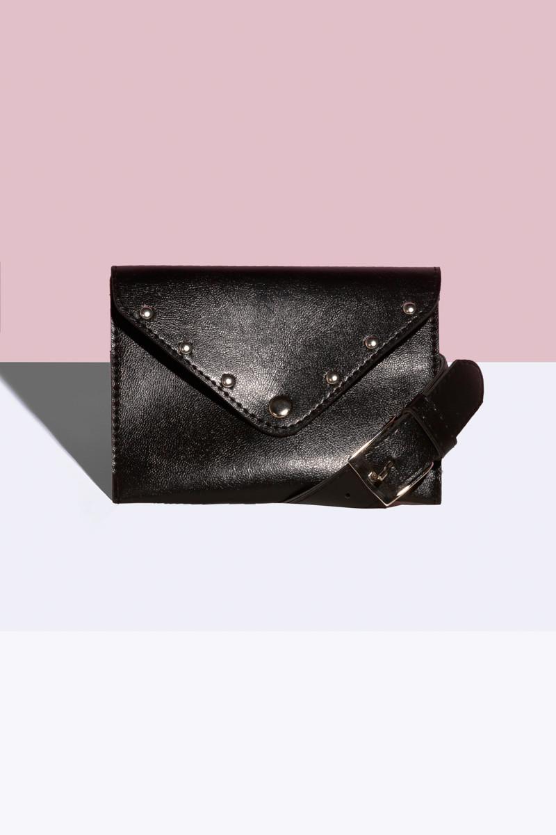 Женская сумка на пояс Черный