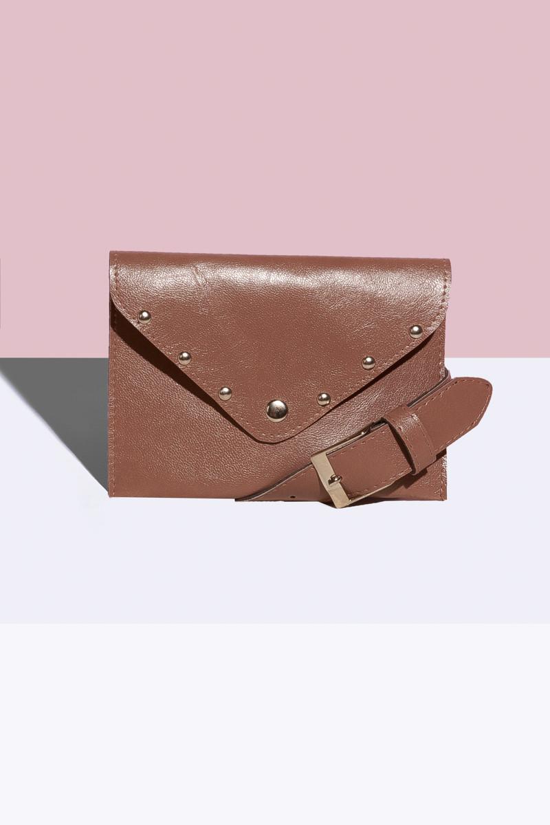 Женская сумка на пояс Кофейный
