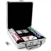 Набор для покера на 100 фишек. Алюминиевый кейс