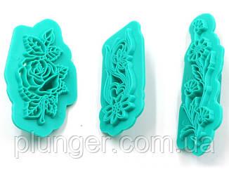 Набір кондитерських відтисків для мастики Квіти
